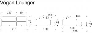 Canapea extensibila Vogan Lounger [11]