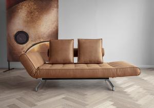 Canapea de zi Ghia cu picioare cromate8