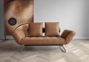 Canapea de zi Ghia cu picioare cromate6