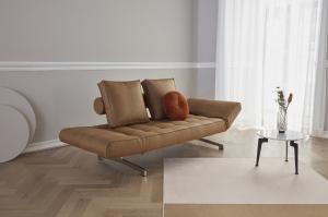 Canapea de zi Ghia cu picioare cromate15