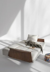 Canapea Extensibila Long Horn cu brate de nuc [13]