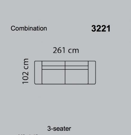 Canapea Fresno 261 x 102 cm12