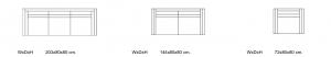 Canapea Luton 144 x 80 cm [9]