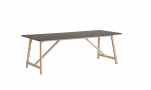CASØ 502 dining table w. black NANO laminate0