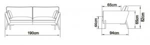 Kragelund Canapea Hasle 2 locuri [7]