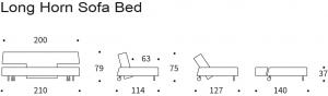 Canapea Extensibila Long Horn36