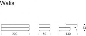 Canapea Walis cu spațiu de depozitare 80x200cm [4]