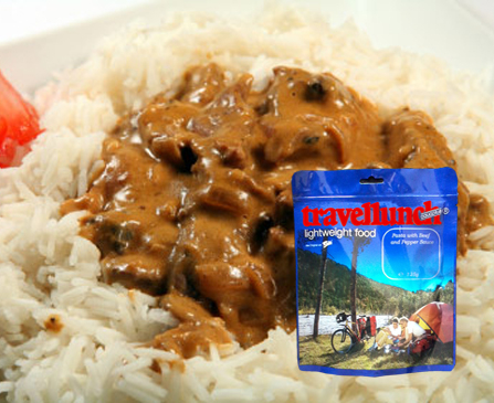 Aliment instant Travellunch Beef Stroganoff with Rice 250g 50233 E [0]