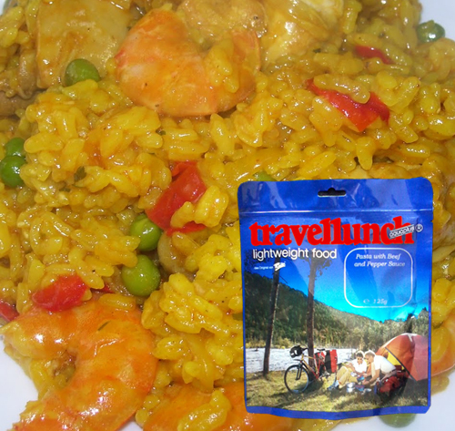 Aliment instant Travellunch Paella cu creveti si pui, fara lactoza 51126 L E [0]