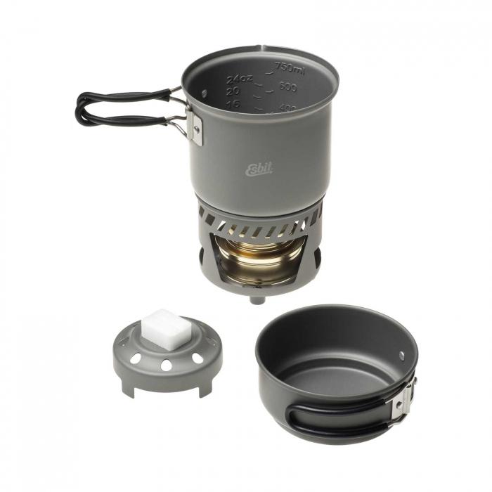 Arzator spirt lichid/solid cu set de vase Esbit CS985HA [0]