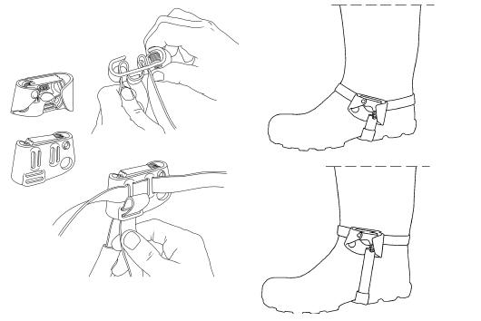 Blocator picior Petzl Pantin [2]