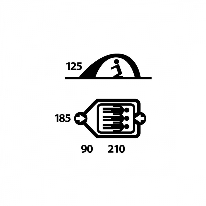 Cort Husky Bird 3-Verde-3 persoane [4]