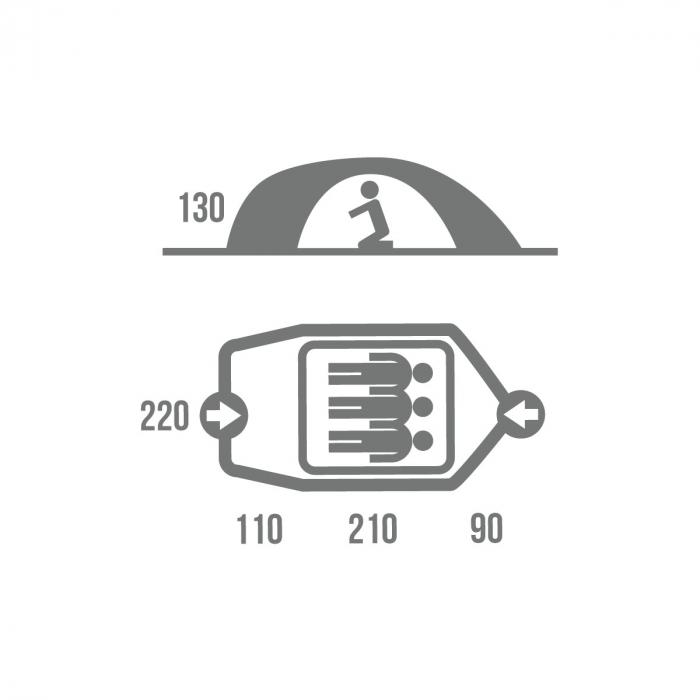 Cort Husky Bizon 3 Classic-Verde-3 persoane [1]