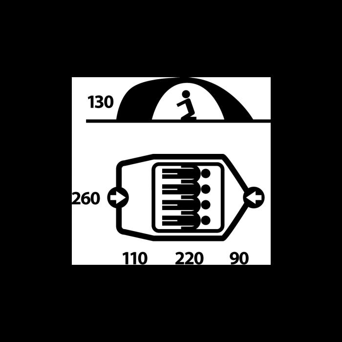 Cort Husky Bizon 4 Classic-Verde-4 persoane [4]
