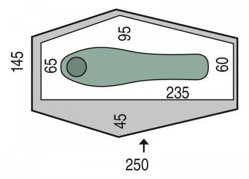 Cort Pinguin Echo 1 DAC, 1 persoana, verde [1]