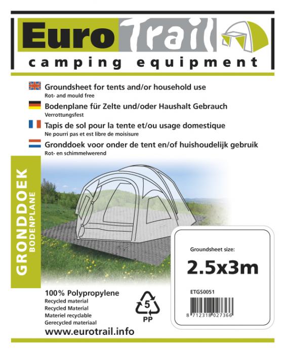 Folie fund cort Eurotrail 250 x 300 cm ETGS0051, verde [2]