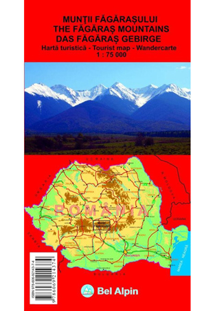 Harta Bel Alpin Muntii Fagarasului 0