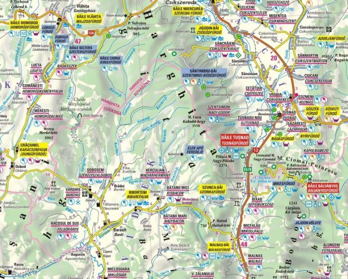 Harta Dimap izvoarelor de apa minerala din Secuime [1]