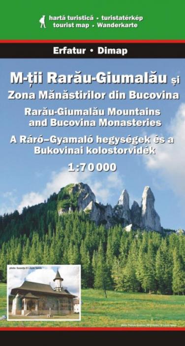Harta Dimap Muntii Rarau-Giumalau si Zona Manastirilor din Bucovina 0