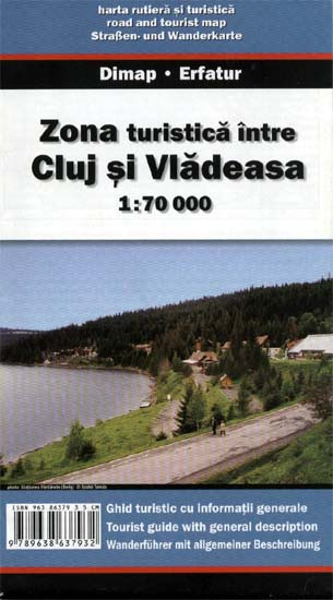 Harta Dimap Zonei Turistice Intre Cluj si Vladeasa 0