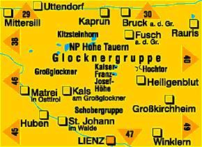 Harta Kompass Glocknergruppe [1]