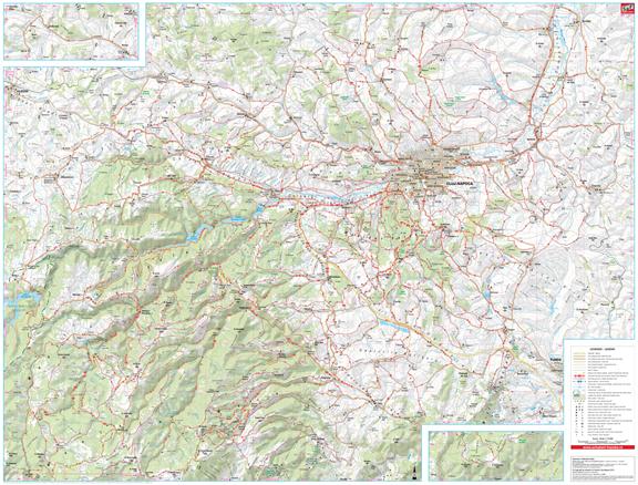 Harta Schubert &Franzke cicloturism 100 de excursii in jurul Clujului [1]