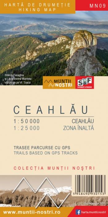Harta Schubert &Franzke Muntii Ceahlau [0]