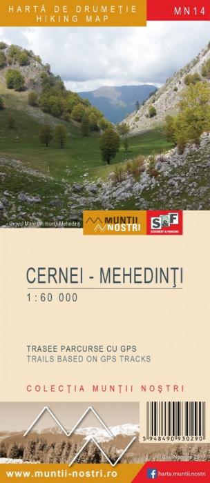 Harta Schubert &Franzke Muntii Cernei-Mehedinti [0]