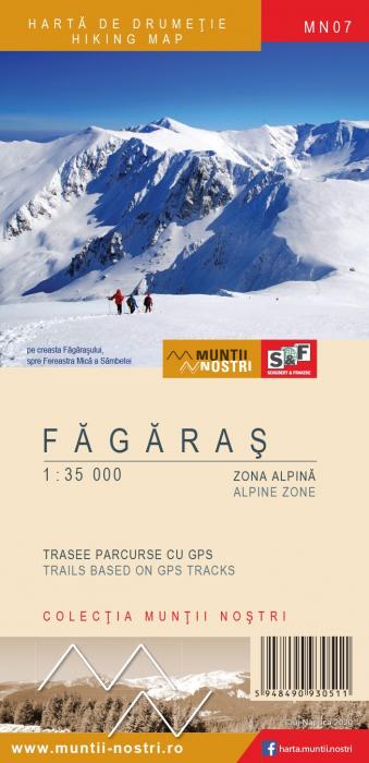 Harta Schubert &Franzke Muntii Fagaras, set 2 harti [0]