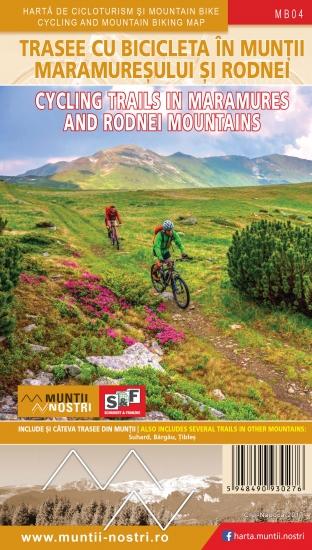 Harta Schubert &Franzke Trasee cicloturistice in muntii Maramuresului si Rodnei [0]