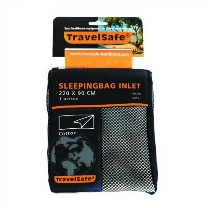 Lenjerie sac de dormit Travelsafe cotton blanket TS0316, 220x90cm, bej, bumbac [0]