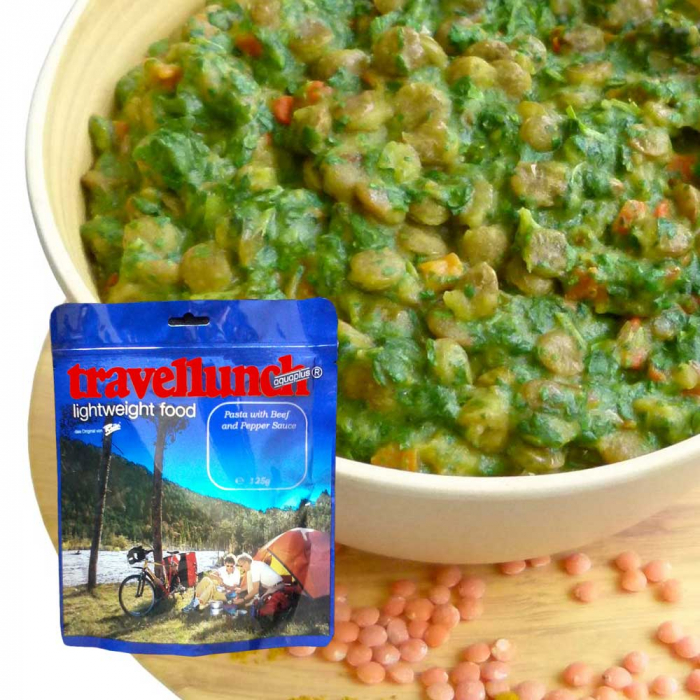 Mancare deshidratata Travellunch Lentils Curry Dal with Spinach 50123 125g -vegetarian [0]
