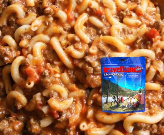 Mancare deshidratata Travellunch Pasta with Beef and Pepper Sauce 125g 50139 E [0]