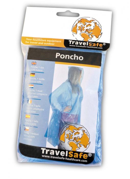 Poncho simplu Travelsafe TS0441, transparent, marime universala [1]