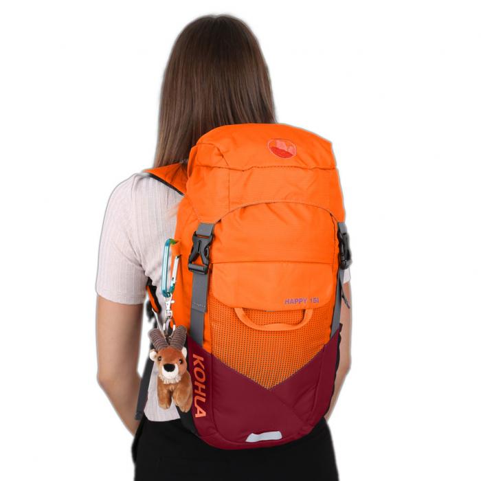 Rucsac copii Kohla Happy 15l 75115, rosu/portocaliu [1]