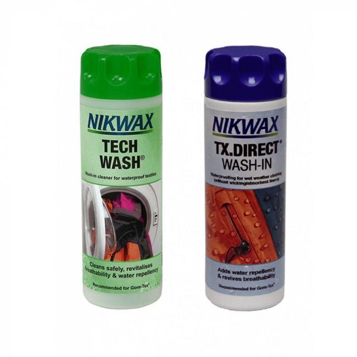 Set detergent+impermeabilizant Nikwax Tech Wash+Tx. Direct  300ml [0]