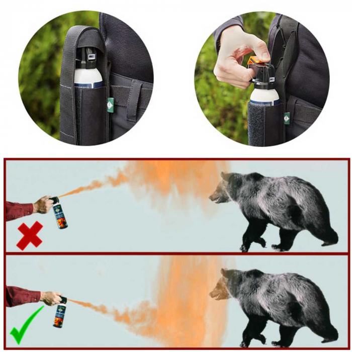Spray autoaparare impotriva ursilor Foroutdoor Bearbuster - cu husa [2]