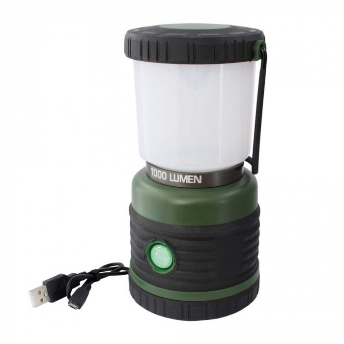 Lanterna reincarcabila 1000lm cu acumulator 4000mah, functie powerbank cu port USB, Eurotrail Leon 1000 ETLT1176 [0]
