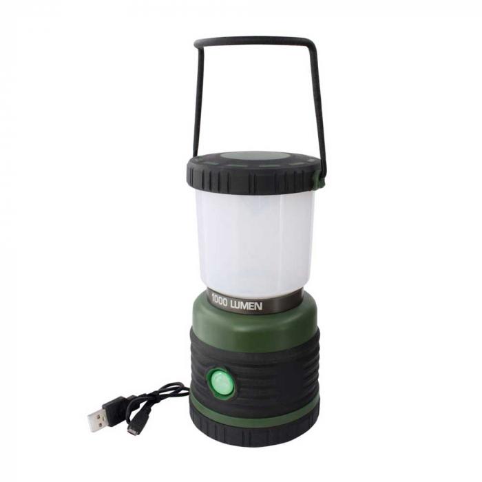 Lanterna reincarcabila 1000lm cu acumulator 4000mah, functie powerbank cu port USB, Eurotrail Leon 1000 ETLT1176 [2]