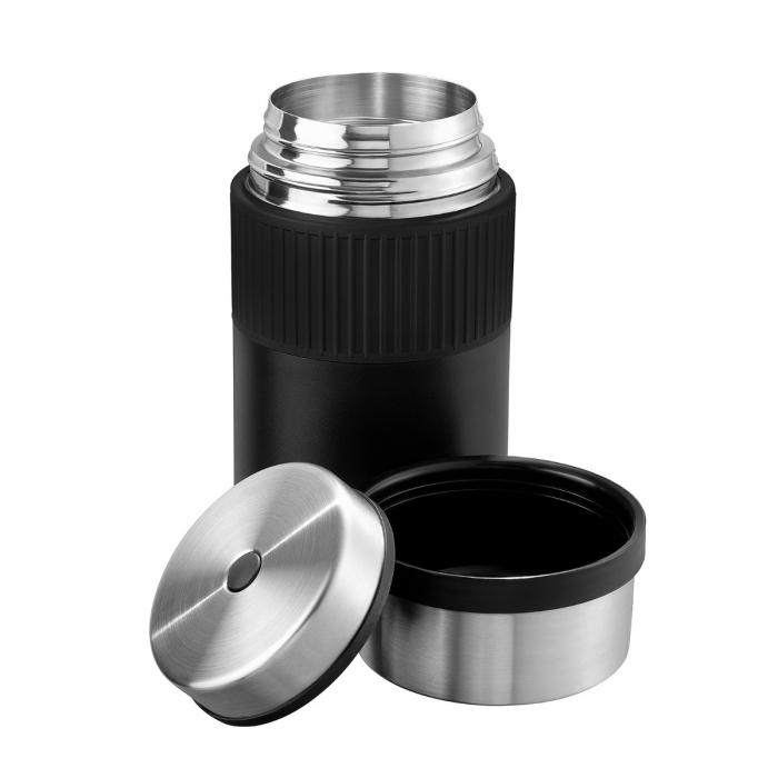 Termos mancare cu manson silicon Esbit Sculptor 1000 ml black  FJ1000SC-SL-BK [1]