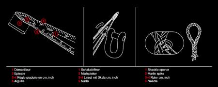 Briceag Victorinox Ranger Grip Boatsman 0.9798.MWC8, galben/negru, cutit cu lama blocabila, cleste patent, deschidere One-hand, 22 functii, husa inclusa [5]