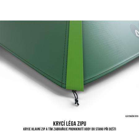 Cort Husky Bizon 3 Plus, verde, 3 persoane [5]