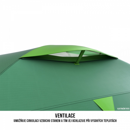 Cort Husky Bizon 3 Plus, verde, 3 persoane [9]