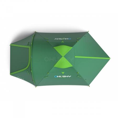 Cort Husky Bizon 3 Plus, verde, 3 persoane [3]