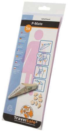 Dispozitiv urinal feminin Travelsafe P-Mate TS62, cutie 5 bucati [1]