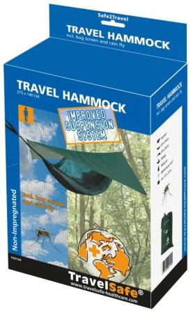 Hamac TravelSafe Travel TS0130, 275x140cm, verde, 1 persoana [1]