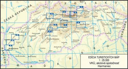 Harta Harmanec Muntii Tatra Inalta (Vysoke) [1]