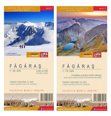 Harta Schubert &Franzke Muntii Fagaras, set 2 harti [2]