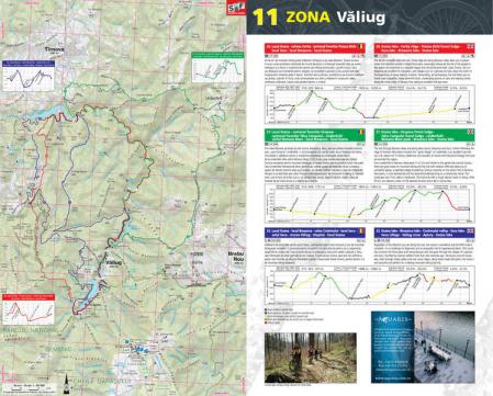 Harta Schubert &Franzke Trasee cicloturistice in muntii Banatului [1]