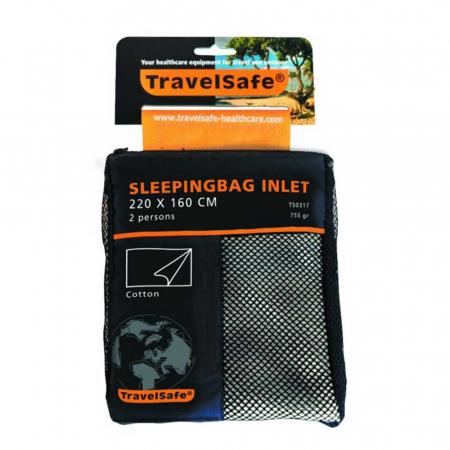 Lenjerie sac de dormit Travelsafe cotton blanket 2 persoane TS0317, 220x160cm, bumbac [2]